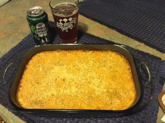 Another batch of IPA mac & cheese, with my favorite IPA: Modus from Ska.