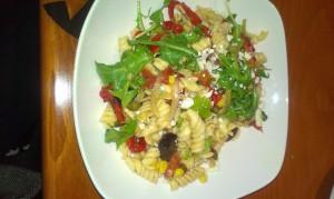 Pasta Salad with stout black pepper vinaigrette