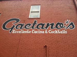 Gaetano's new exterior - sign