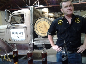 Head Distiller Rob Dietrich pouring 4 different Snowflake editions of Stranahan's
