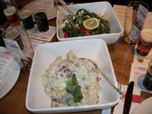 Red Bliss Potato Salad and Green Bean Salad (not pictured: Sweet Corn & Avocado Salad)