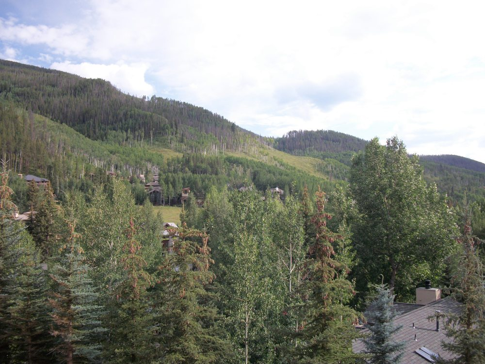 View from a room at Vail Cascade Resort
