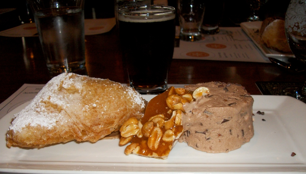 Rocky Road Ice Cream Souffle, Fried Justin's Almond Butter PB&J, and Peanut Brittle