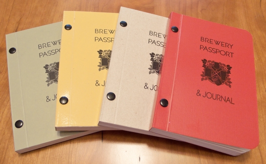 Photo of the Brewery Passport & Journal (from Beerporium's site)