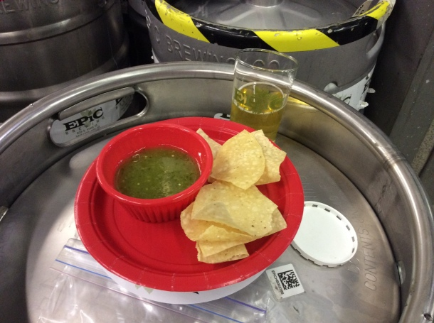 Tomatillo Salsa and Sour Apple Saison