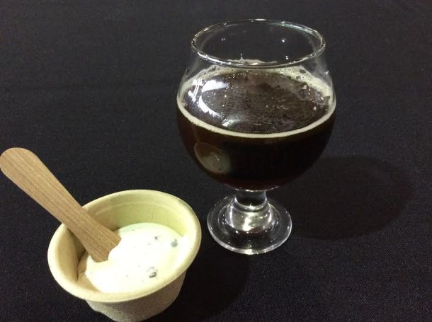 Wild Woods Brewery's Molasses Brown Ale paired with Campfire Ice Cream from Basta
