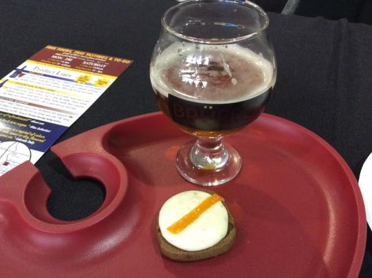 Crazy Mountain Amber Ale and Red Camper's Spiced Dark Chocolate Chip Cookies with Anise Orange Cream