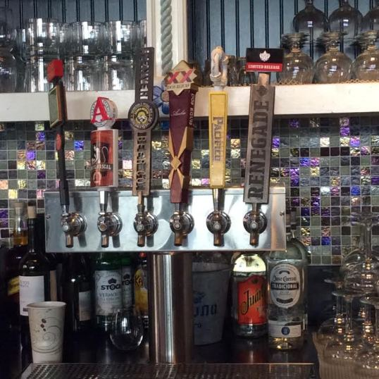 Mexican beers and local beers on tap