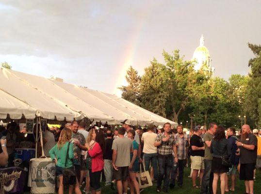 It rained a bit but we got a rainbow afterward!
