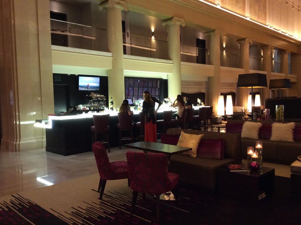 Hotel lobby and Teller Bar