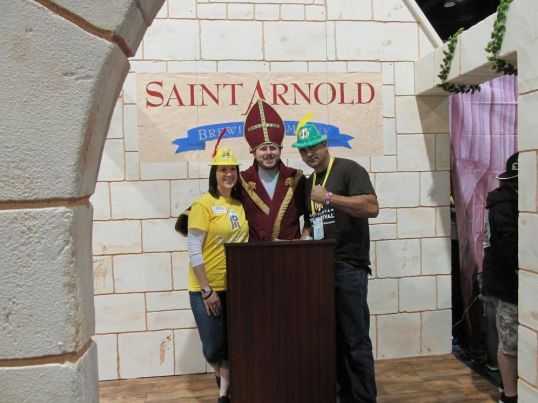 Saint Arnold Brewing Company (Texas' Oldest Craft Brewery) brought this chapel where people could actually wed at the festival.