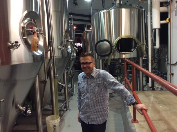 In the brew house with Brewmaster Bryan Selders.