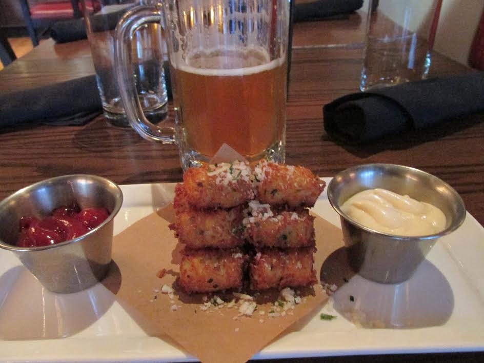 Mmm...tots. With a Union Jack IPA from Firestone Walker.