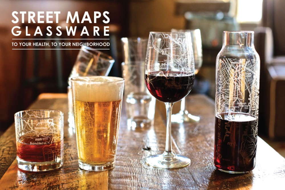 Just some of the Maps Glassware products. See #3 on the list for more information.