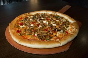 Fennel Sausage & Sundried Tomato Pizza
