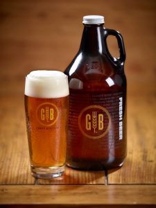 Growler with glass
