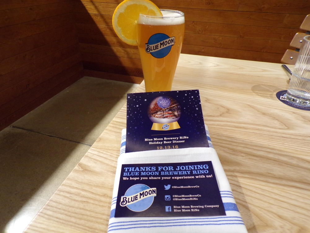Blue Moon Belgian White as a Welcome beer
